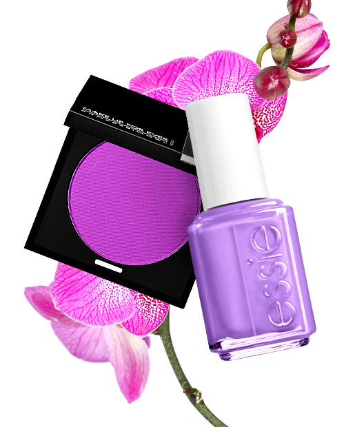 Radiant orchid, eye shadow + nail polish