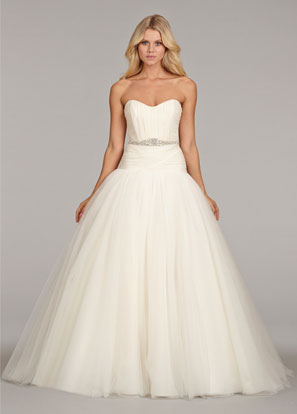 hayley-paige-bridal-georgette-tulle-dropped-bridal-ball-ruched-sweetheart-beaded-sash-chapel-train-6407_lg